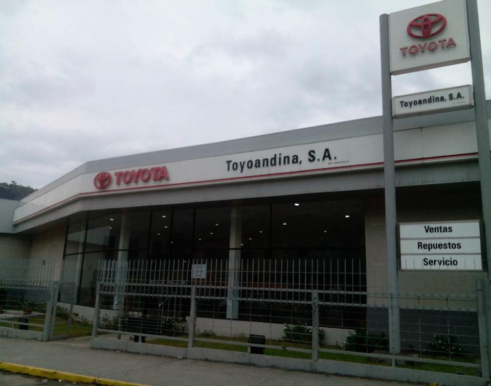 toyoandina, concesionario toyota venezuela, fachada